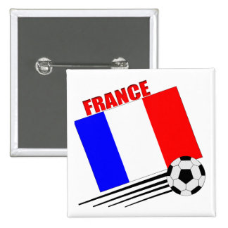 Equipo de fútbol francés pins