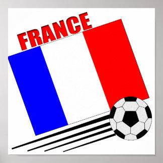 Equipo de fútbol francés póster
