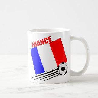 Equipo de fútbol francés taza de café