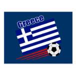 Equipo de fútbol griego postal
