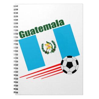 Equipo de fútbol guatemalteco libro de apuntes con espiral