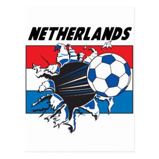 Equipo de fútbol holandés de Futbol Tarjeta Postal