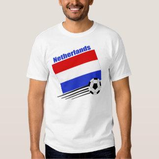 Equipo de fútbol holandés playera