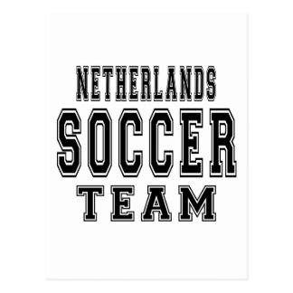 Equipo de fútbol holandés postal