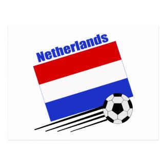 Equipo de fútbol holandés tarjeta postal