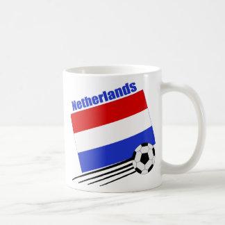 Equipo de fútbol holandés taza de café