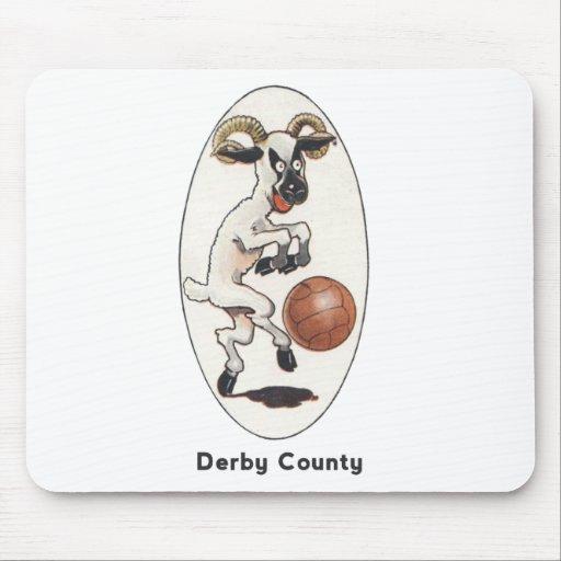 Equipo de fútbol inglés - el condado de Derby Mous Mousepad