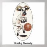 Equipo de fútbol inglés - poster del condado de De