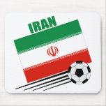 Equipo de fútbol iraní alfombrilla de ratón