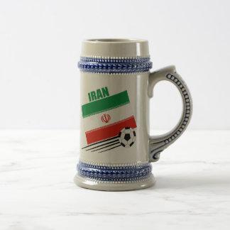 Equipo de fútbol iraní jarra de cerveza