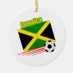Equipo de fútbol jamaicano adorno para reyes