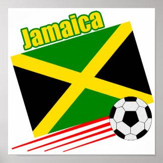 Equipo de fútbol jamaicano póster