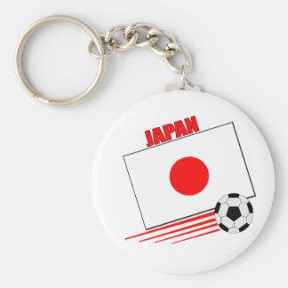 Equipo de fútbol japonés llavero redondo tipo pin