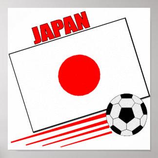 Equipo de fútbol japonés póster