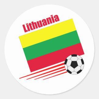 Equipo de fútbol lituano etiquetas redondas