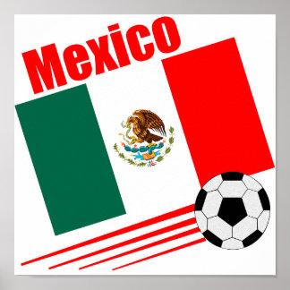 Equipo de fútbol mexicano póster