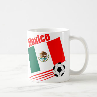 Equipo de fútbol mexicano taza de café