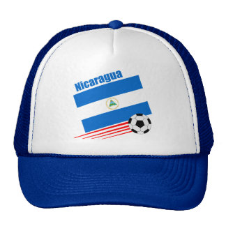 Equipo de fútbol nicaragüense gorros