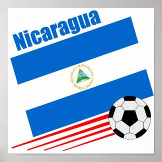 Equipo de fútbol nicaragüense póster