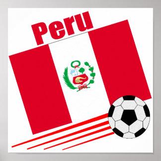 Equipo de fútbol peruano póster