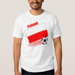 Equipo de fútbol polaco playeras