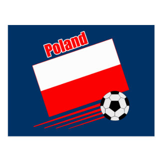 Equipo de fútbol polaco postal