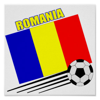 Equipo de fútbol rumano póster