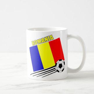 Equipo de fútbol rumano taza de café
