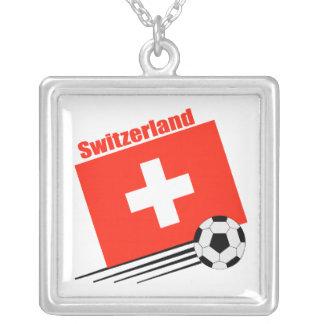 Equipo de fútbol suizo colgante cuadrado