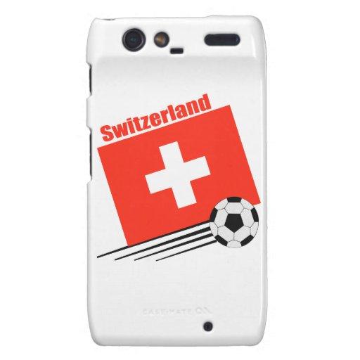 Equipo de fútbol suizo droid RAZR carcasa