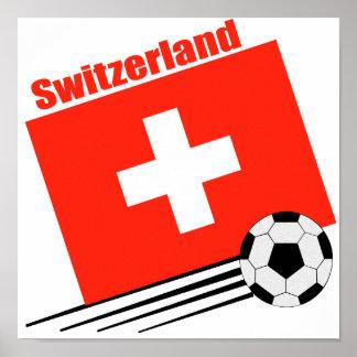 Equipo de fútbol suizo impresiones