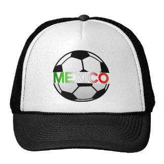 equipo de fútbol tricolor del EL México Gorros Bordados