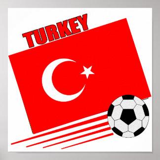 Equipo de fútbol turco póster