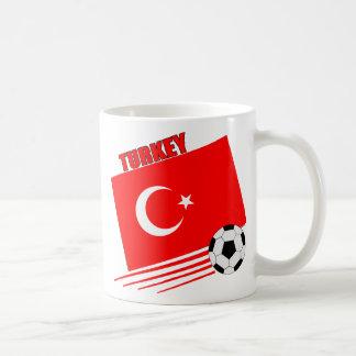 Equipo de fútbol turco taza de café