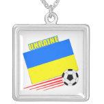 Equipo de fútbol ucraniano colgantes personalizados
