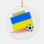 Equipo de fútbol ucraniano ornamento de reyes magos