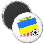 Equipo de fútbol ucraniano iman de nevera