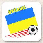 Equipo de fútbol ucraniano posavasos de bebida