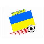 Equipo de fútbol ucraniano postal