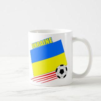 Equipo de fútbol ucraniano taza de café