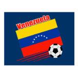 Equipo de fútbol venezolano tarjeta postal