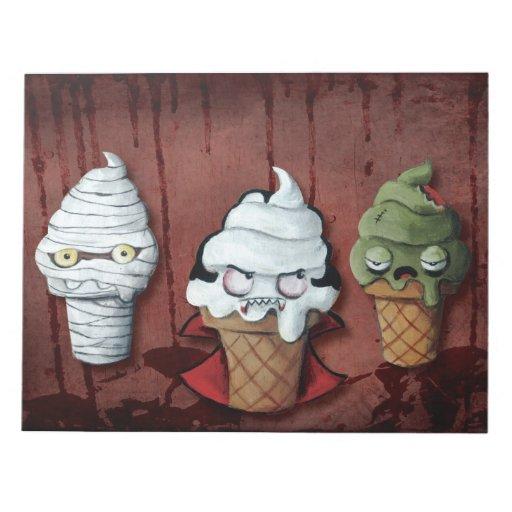 ¡Equipo de Halloween de los monstruos! Blocs De Notas