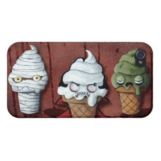 ¡Equipo de Halloween de los monstruos! iPhone 4/4S Carcasa