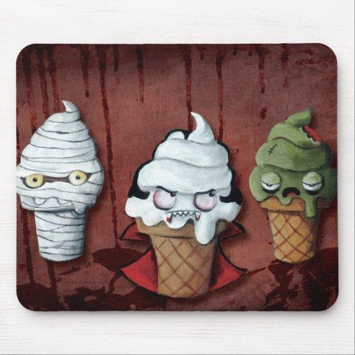 ¡Equipo de Halloween de los monstruos! Tapete De Ratón