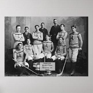 Equipo de hockey del trébol, Montreal, ` del Póster