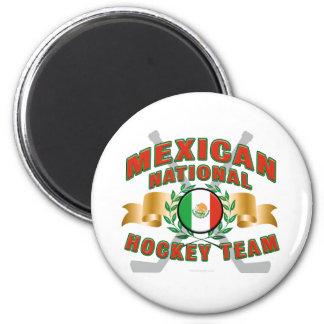 Equipo de hockey nacional mexicano imán redondo 5 cm