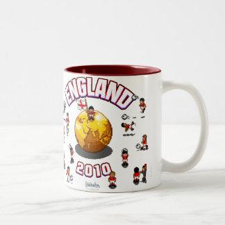 Equipo de Inglaterra 2010 del pixel y taza de la