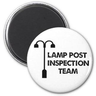 Equipo de inspección del poste de la lámpara imán redondo 5 cm