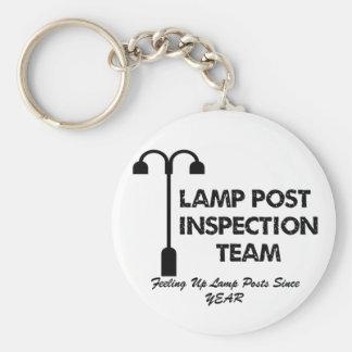 Equipo de inspección del poste de la lámpara llavero redondo tipo pin