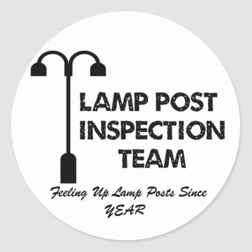 Equipo de inspección del poste de la lámpara pegatina redonda